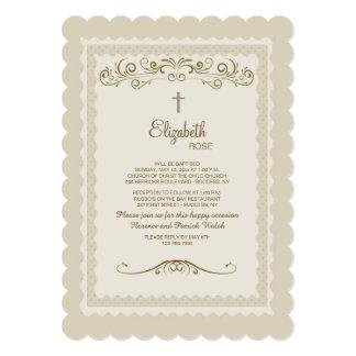 Vintage Grace Religious Invitation