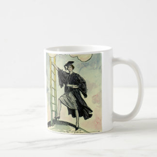 Vintage Graduation, Climbing the Corporate Ladder Coffee Mug