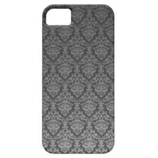 Vintage Gray Damask Lace Image for I Phone Barely There iPhone 5 Case