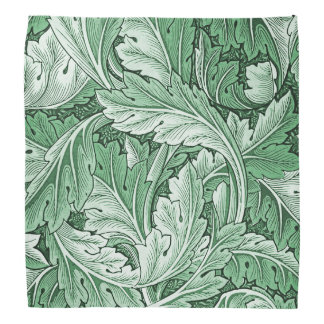 Vintage Green Acanthus Leaf Bandana