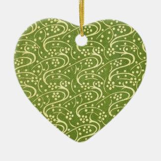 Vintage Green Floral Ornament