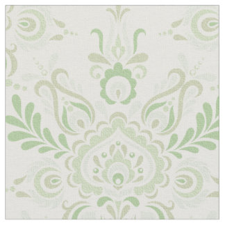 Vintage green pattern fabric