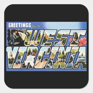 Vintage Greetings from West Virginia Stickers