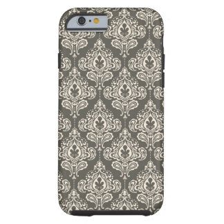 Vintage Grey Damask Tough iPhone 6 Case
