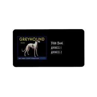Vintage Greyhound Lemon Label Circa 1920 Address Label
