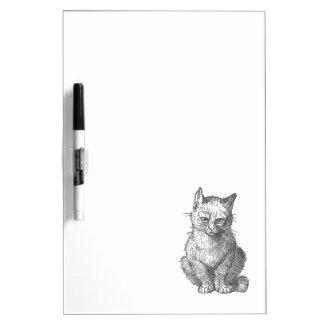 Vintage Grumpy Cat Design Dry Erase Board