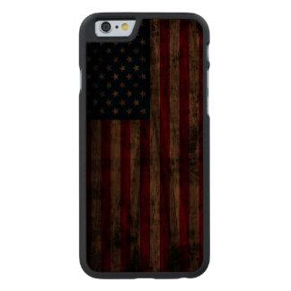 Vintage Grunge American Flag Carved® Walnut iPhone 6 Case