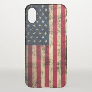 Vintage Grunge American Flag iPhone X Case
