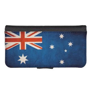 Vintage Grunge Australia Flag iPhone 5 Wallet Case