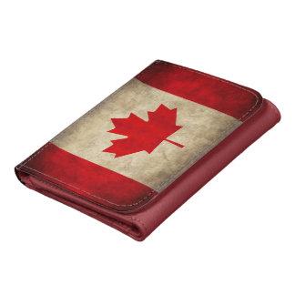 Vintage Grunge Canada Flag Wallets