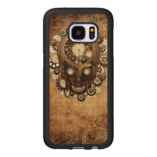 Vintage Grunge Copper Steampunk Skull Wood Samsung Galaxy S7 Case