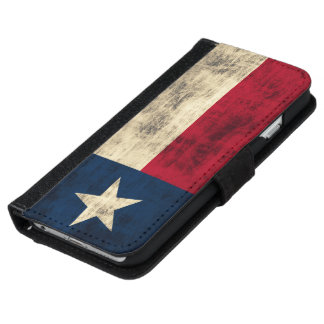 Vintage Grunge Flag of Texas iPhone 6 Wallet Case