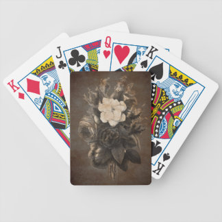 Vintage Grunge Flowers Bicycle Playing Cards