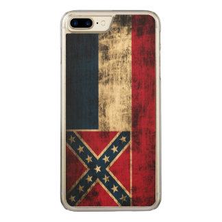 Vintage Grunge Mississippi Flag Carved iPhone 7 Plus Case