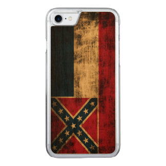 Vintage Grunge Mississippi Flag Carved iPhone 8/7 Case