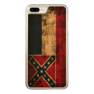 Vintage Grunge Mississippi Flag Carved iPhone 8 Plus/7 Plus Case