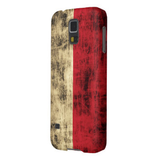 Vintage Grunge Polish Flag Case For Galaxy S5