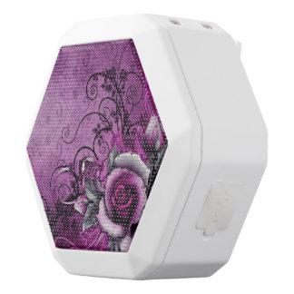 vintage grunge purple rose vector swirl art