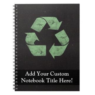 Vintage Grunge Recycle Symbol Spiral Notebook