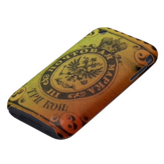 Vintage Grunge Russian Stamp iPhone Cover iPhone 3 Tough Covers