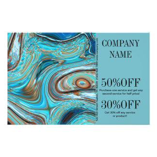 vintage grunge rustic country fashion  turquoise 14 cm x 21.5 cm flyer