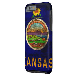 Vintage Grunge State Flag of Kansas Tough iPhone 6 Case