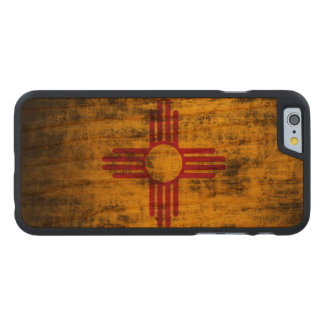 Vintage Grunge State Flag of New Mexico Carved Cherry iPhone 6 Case
