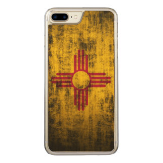 Vintage Grunge State Flag of New Mexico Carved iPhone 8 Plus/7 Plus Case