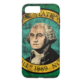 Vintage Grunge State Flag of Washington iPhone 7 Plus Case