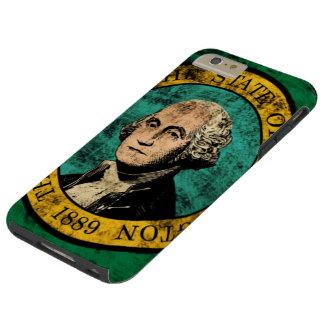 Vintage Grunge State Flag of Washington Tough iPhone 6 Plus Case