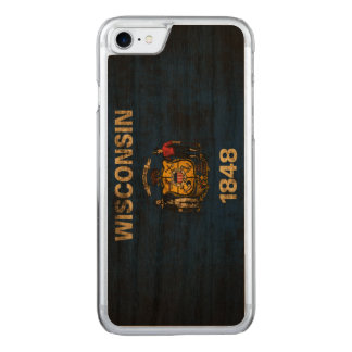 Vintage Grunge State Flag of Wisconsin Carved iPhone 8/7 Case