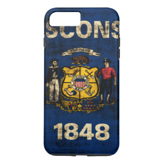 Vintage Grunge State Flag of Wisconsin iPhone 8 Plus/7 Plus Case