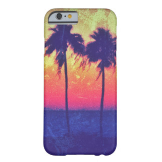 Vintage Grunge Sunset Palm Trees iPhone 6/6s Case Barely There iPhone 6 Case