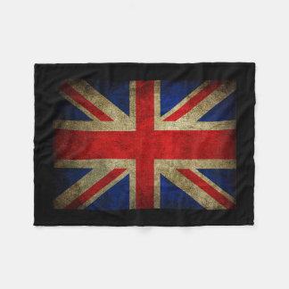 Vintage Grunge UK Flag Fleece Blanket