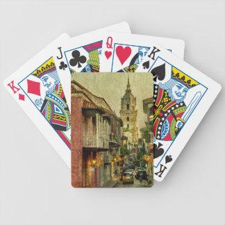 Vintage Grunge Urban View of Cartagena Architectur Bicycle Playing Cards