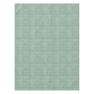 Vintage Grunge White Flowers On Green Tablecloth