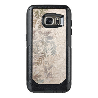 Vintage Grungy Embossed Foliage OtterBox Samsung Galaxy S7 Case