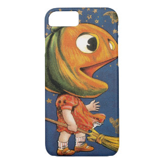 Vintage Halloween, Giant Pumpkin Head Costume iPhone 7 Case