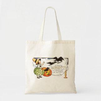 Vintage Halloween Greetings Tote Bags