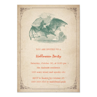 Vintage Halloween Party Scary Adult Blood Splatter Card