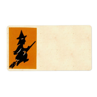 Vintage Halloween Witch Shipping Label