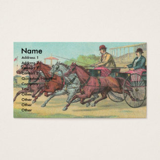 Vintage Harness Racing Business Card
