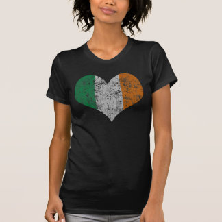 Vintage Heart Flag of Ireland T-Shirt