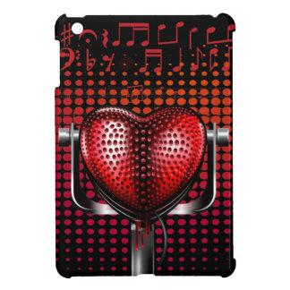 Vintage Heart Microphone iPad Mini Case