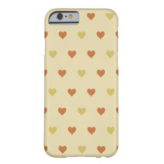 Vintage Heart Pattern - Beige Background Barely There iPhone 6 Case