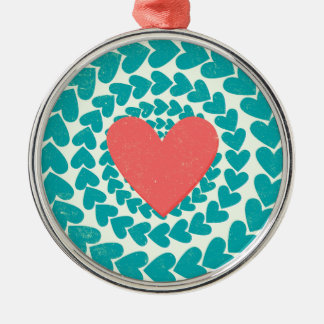 Vintage Heart Swirl Christmas Ornament