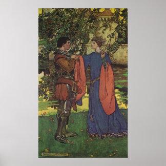 Vintage Hero Prince Knight Shining Armor Princess Posters