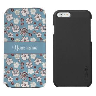 Vintage Hibiscus Flowers Pattern Incipio Watson™ iPhone 6 Wallet Case