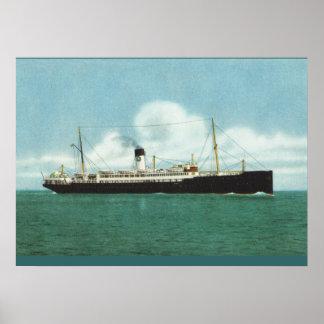 Vintage historic ships, Swedish Lloyd sister ships Poster