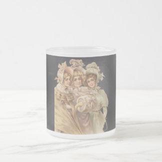 Vintage Holiday Ladies Victorian Christmas Mug